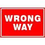 Wrong Way Road Warn Street Nueva Señal De Nov + Envio Gratis