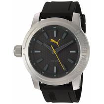 Reloj Puma Acero Análogo Caucho Negro Amarillo Pu103991003