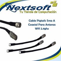 Cable Pigtails Sma A Coaxial Para Antenas Wifi Nextsoft