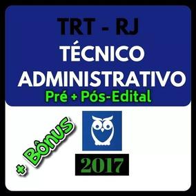Trt Rj Tecnico Administrativo Estrategia Pre + Pos Edital