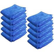 Pack 10 Paños Microfibra Azul 60x40 Multiuso Secado Hogar Sm