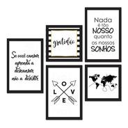 Kit De Placas Mapa Nada É Tão Nosso Quanto Os Nossos Sonhos