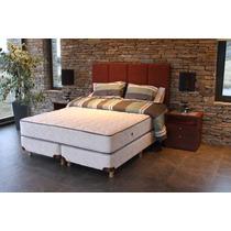 Colchón Lenga Suite Resortes Con Espuma Alta Densidad 1.40mt