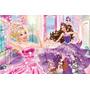 Painel Infantil Barbie 1,80 X 1,20m Decoracao Infantil, Lona