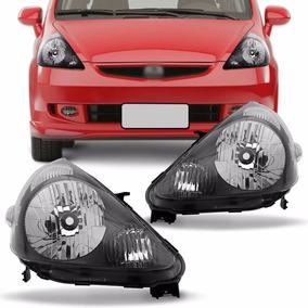 Farol Honda Fit 2003 2004 2005 2006 2007 2008 Mascara Negra