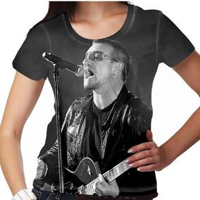 Camiseta Pop Rock U2 Bono Vox Feminina