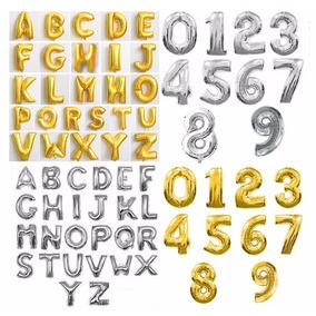 Balão Letras E Números Grande - 72/75cm O Melhor