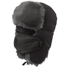 Siggi Winter Grey Ushanka Sombrero De Bombardero Ruso Trappe