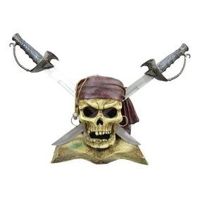 Caveira Piratas Do Caribe Com Espadas 50x50 Mk 2037