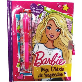 Meu Diário De Segredos Da Barbie C/ Caneta Mágica E Cadeado