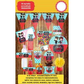 Kit Imprimible Graduación Escuela Kinder Etiquetas Regalos