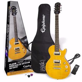 Kit Guitarra Epiphone Les Paul Slash Capa Cabo