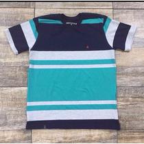Kit 3 Camisetas Brooksfield Listradas