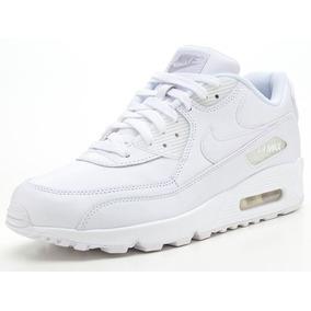 Nike Air Max 90 Blancas Cuero C/caja Lo Mas Buscado!!