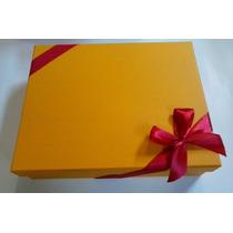 10 Caixas De Presente P/camisa. Papelão Na Cor Amarelo Ouro.