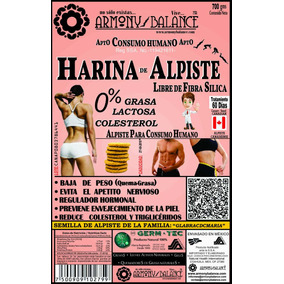 Harina Alpiste Original Armonybalance Canadiense Sin Silica