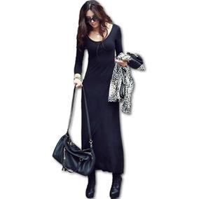 Vestido Largo - Modal Importado-hasta 4xl-talles Grandes!!