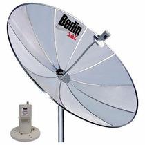 Kit Antena Parabólica 1,50m Lnbf Monoponto C/ Capa E Cabo