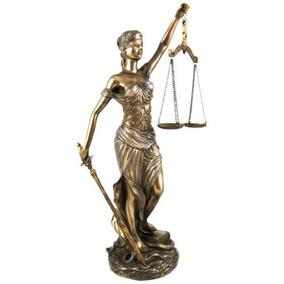 12 Pulgadas La Justica Con Balanzas Y Figura De La Estatua