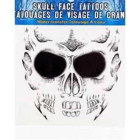 Tatuaje Cráneo Para La Cara Halloween