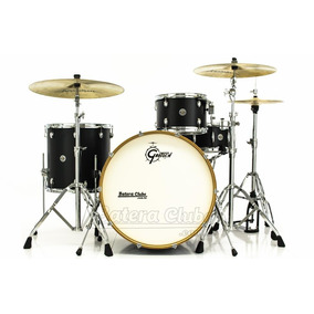 Bateria Gretsch Catalina Club Rock Flat Black Com Bumbo 24¨,