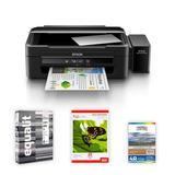 Impresora Epson L380 + Papel Foto 4r 100 Hjs.+ Resma Equalit
