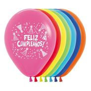 Globos Premium Impresión Feliz Cumpleaños Con Gorritos