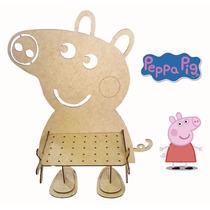 Piruliteiro Peppa Pig E George Pig - Mdf Crú - Festa
