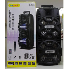 Parlante Speaker Bluetooth 8 Pulgadas Full Party + Micrófono