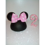 Centro Para Tortas Toppers,mickey Minnie Mouse,masa Flexible