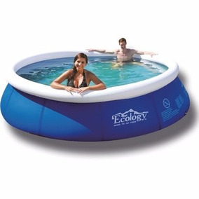 Piscina Inflable Ecology 2.4mx63cm + Bomba De Aire De Regalo