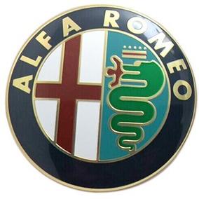 Emblema Capo Porta Malas Alfa Romeo 74mm Aluminio