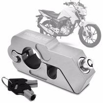 Segurança Trava Moto Manete Punho Tecklock Cor Prata