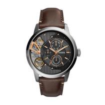 Relógio Masculino Fossil Me1163/0pn Pulseira Couro Marrom