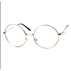 Armazon Oftalmico Lentes Redondos Circular Harry Potter Gold