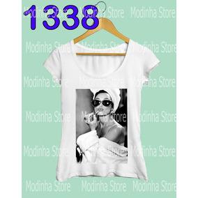 Roupas Femininas Camiseta Audrey Hepburn Tiffany