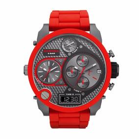 Relógio Masculino Importado Diesel Vermelho Dz7279 Oferta