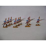 Nico 9 Fusileros Marchando Soldados De Plomo (pmv 41)