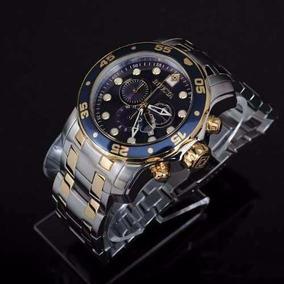 Lindo Relógio Invicta 0077 Prata Com Dourado