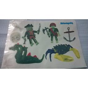 Playmobil Calcomanias De Piratas Fantasmas Tatuajes Js B