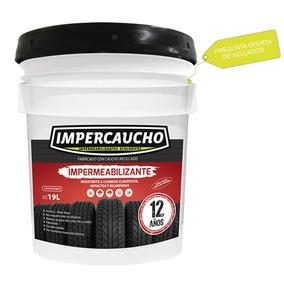 Impermeabilizante De Llanta Impercaucho Rojo-blanco Cubeta