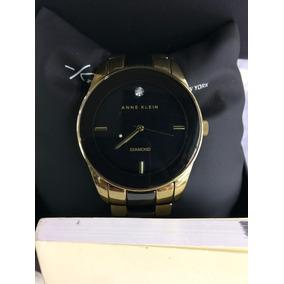 Reloj Anne Klein Dama Dorado Con Cerámica Negro