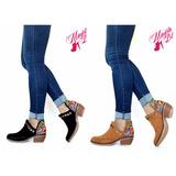 Zapatos Texanas Mujer Cuero Gamuza Pretemporada Otoño 2017