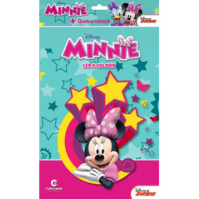 Livro Minnie - Ler E Colorir + Quebra-cabeça - Culturama