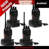 Baofeng Kit 4 Radios Bf-888s Nuevos Envió Gratis
