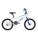 Bicicleta Cross Aro 20 Branca E Azul - Caloi