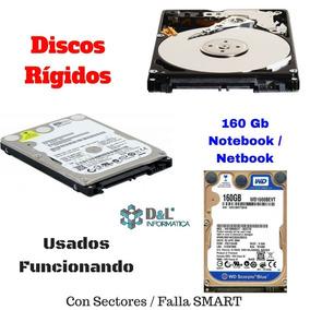 Disco Rígido Notebook 160gb Sata2 Netbook De Ocasión Win Xp