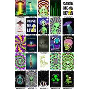 Kit 10 Placas Decorativas Et Extraterrestre Alien