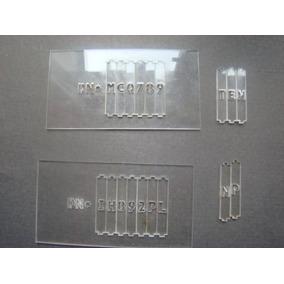 3 Plantillas Para Grabado De Cristales Sistema Arenado