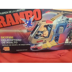 Rambo Coleco / Jocsa - (1986) Helicóptero Skyfire + Extra